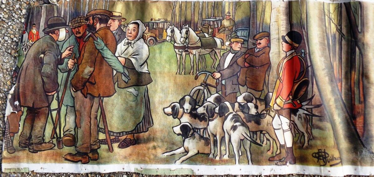 La chasse Affiche De Albert Guillaume LE RENDEZ VOUS 1911-photo-4