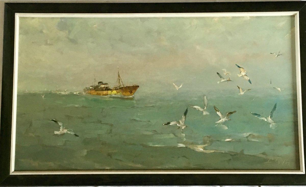 Peinture Marine Louis Royon-photo-4