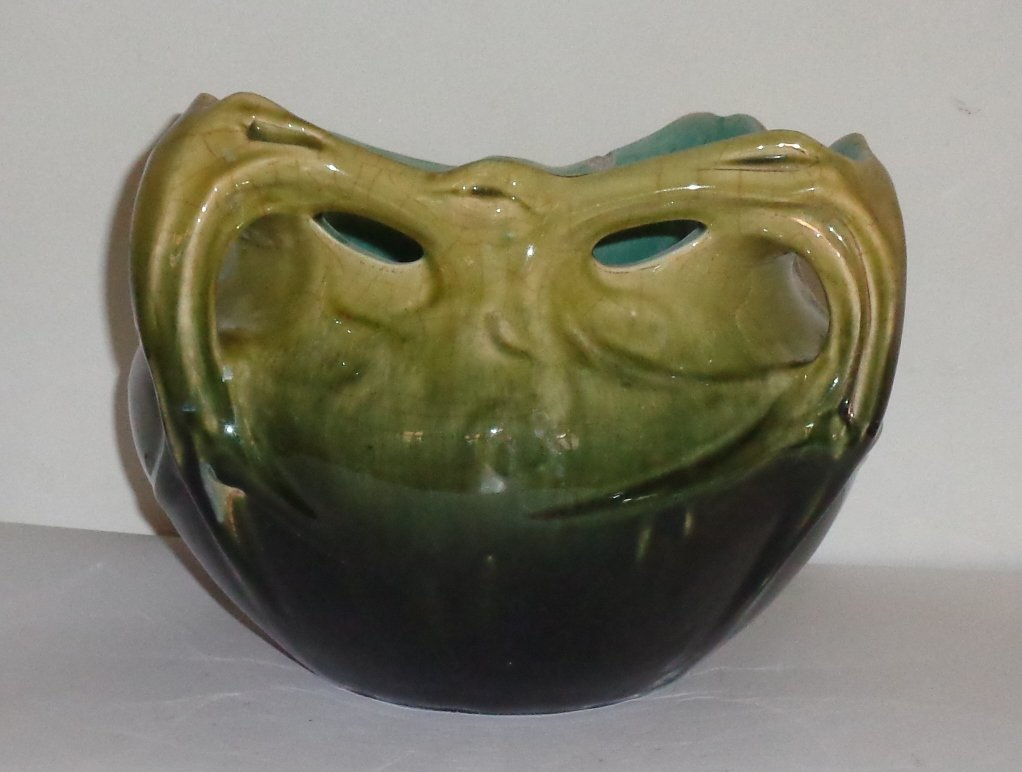 Hector Guimard Par Gustave De Bruyn  , Vase De Chalmont En Céramique émaillée-photo-2