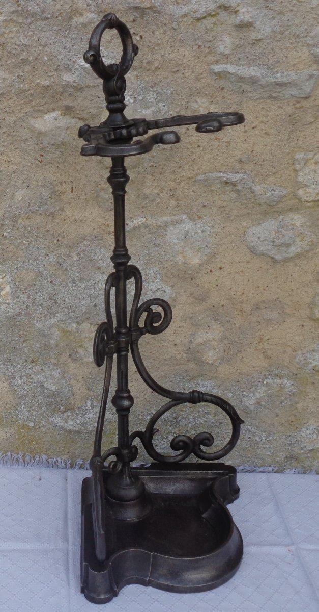 Serviteur De Cheminée En Fonte Napoléon III-photo-3
