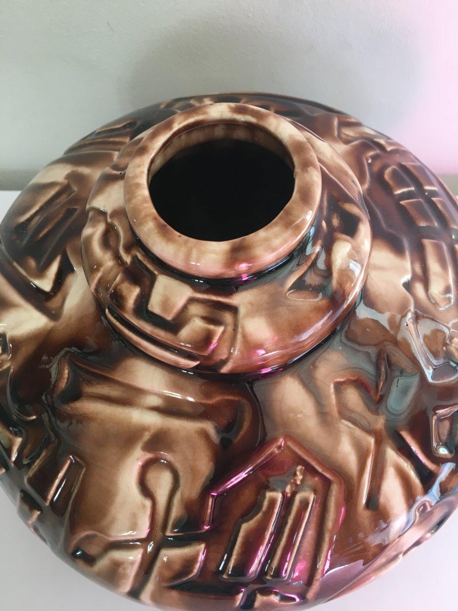Art Deco Ceramic Vase-photo-2