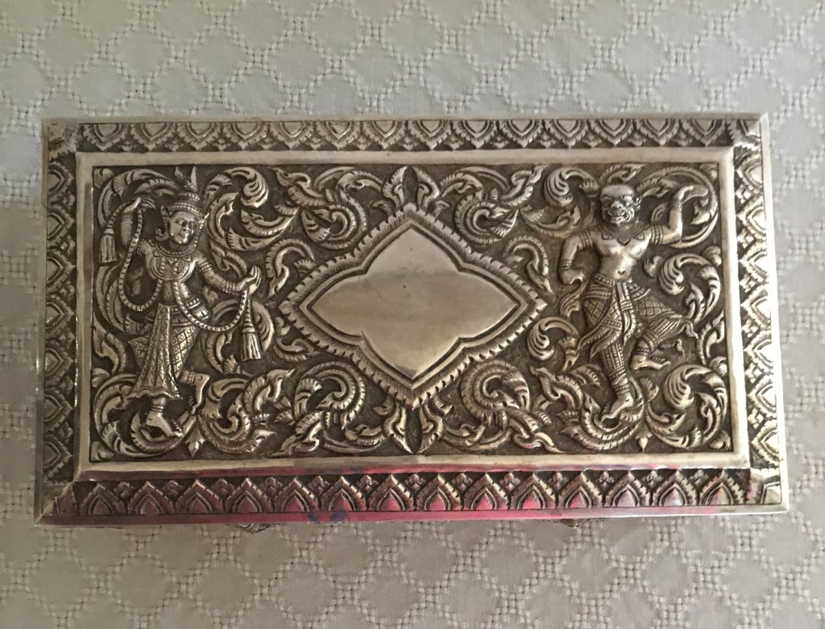 Boîte En Argent Inde-photo-2