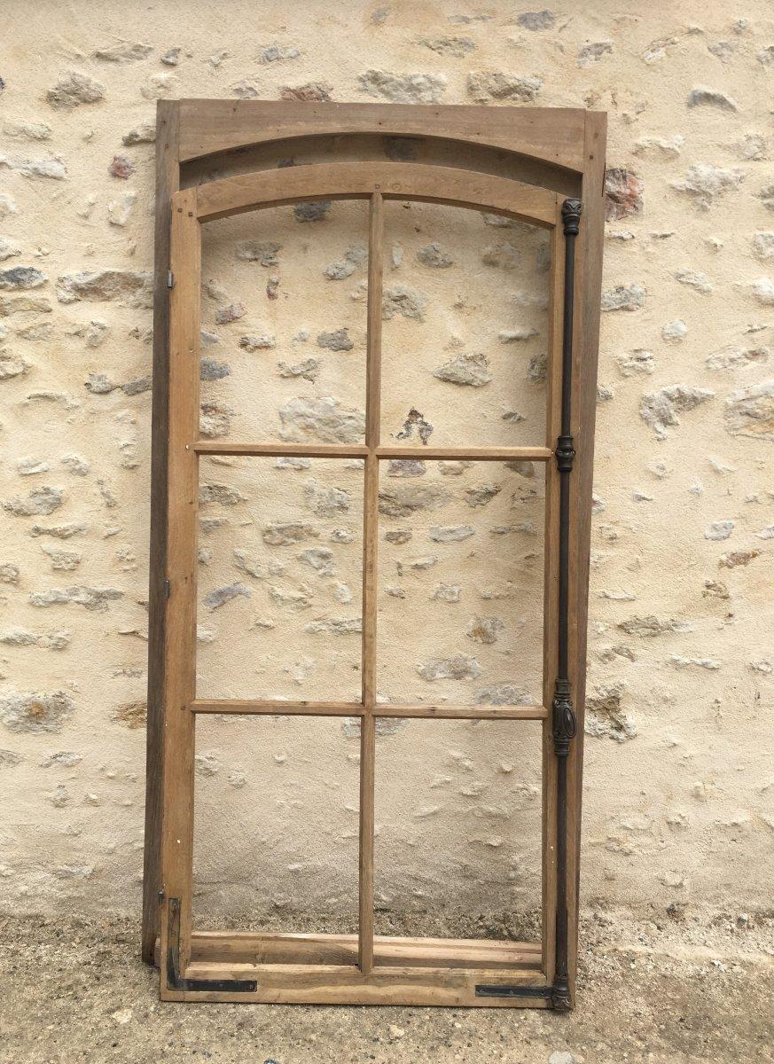 Fenêtre Cintrée En Chêne XIX ème -photo-2