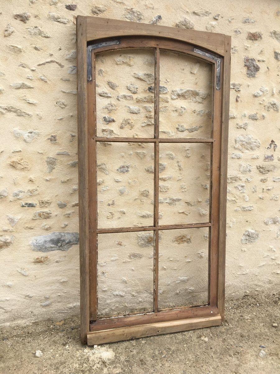 Fenêtre Cintrée En Chêne XIX ème