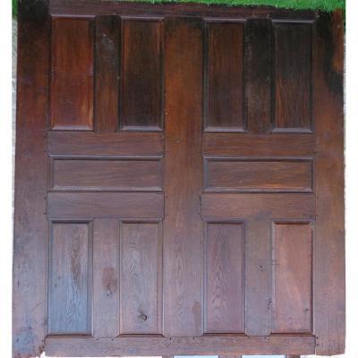 Large Wood Panel Louis XIII In Oak Late Seventeenth