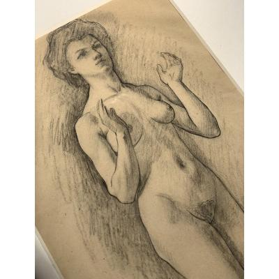 Drawing Of A Female Nude By Paul Audra