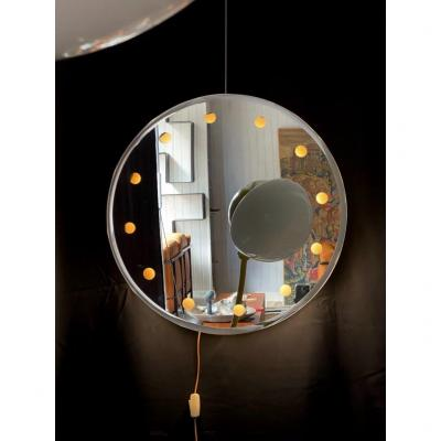 Backlit Mirror Attributed To Fontana Arte