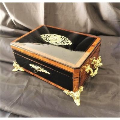 Large Couture Box Boulle Marquetry Napoleon III Period Napoleon 3