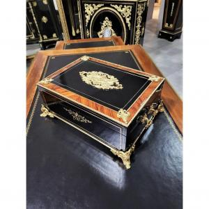 Large Box Or Box In Boulle Marquetry Napoleon III Period Napoleon 3