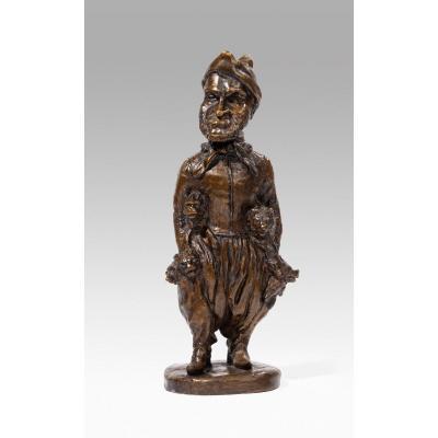 Fratin Christophe (1801-1864), Statuette Of Fratin By Himself