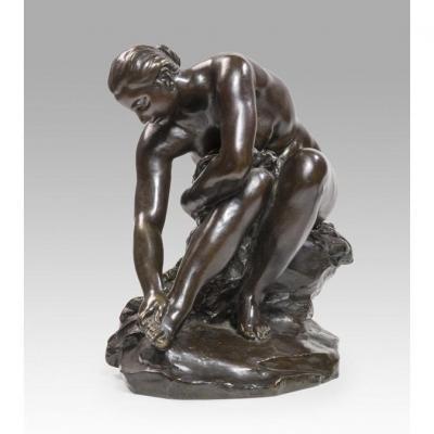 Aimé-jules Dalou (1838 - 1902) Baigneuse Au Rocher