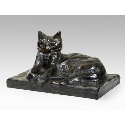 Steinlen Théophile-alexandre (1859-1923) Chat couché