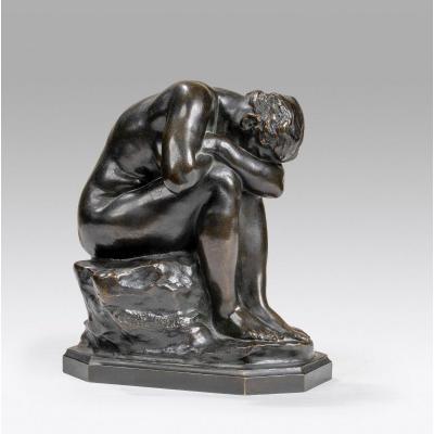 Dalou Aimé-jules (1838-1902 Français), La Vérité Méconnue Ou Miroir Brisé