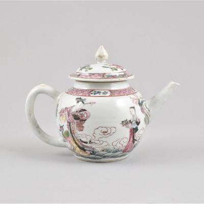 Théière Peinte Dans Les émaux De La Famille Rose En Porcelaine De Chine D'époque Yongzheng