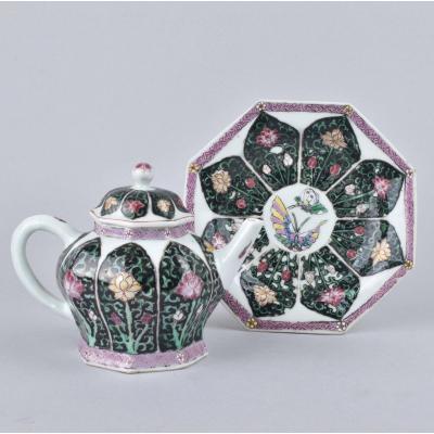 Théière Décorée Dans Les émaux De La Famille Rose En Porcelaine De Chine d'époque Yongzheng