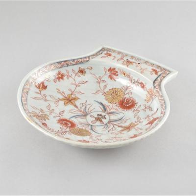 Paire De Grandes Coquilles à Décor Imari En Porcelaine De Chine D'époque Kangxi