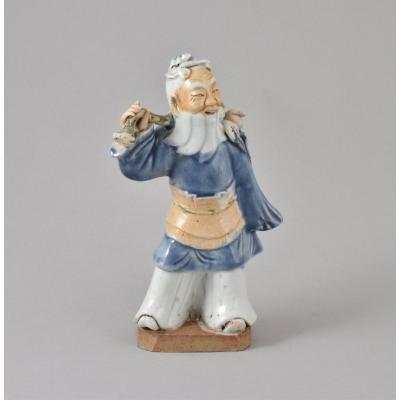 Figure Représentant Tong-fang-cho En Biscuit émaillé De La Fin De l'époque Qianlong