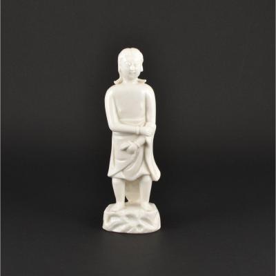 Figure Représentant « Adam » En Porcelaine De Blanc De Chine (dehua) D'époque Kangxi