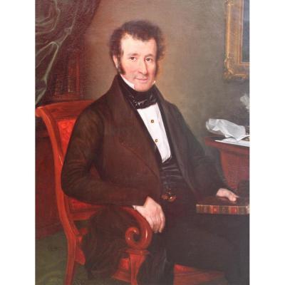 Elisa BLONDEL-DAVID, Portrait d'homme, 1840, tableau