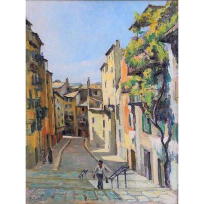 Paul CORDONNIER (1878-1963) Nice, vue de la vieille ville , circa 1910-20