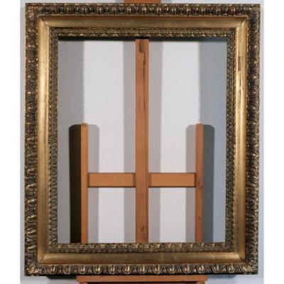 17th Century Italian Frame, Carved And Gilded Wood
