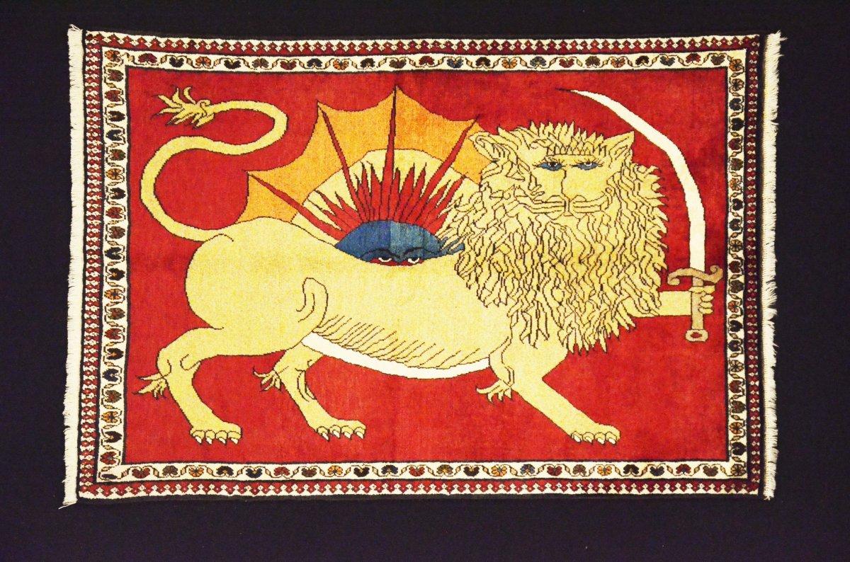 Gashgaï - Gabbeh Iran Mi-xxe  Lion Impérial 149x103  Parfait état