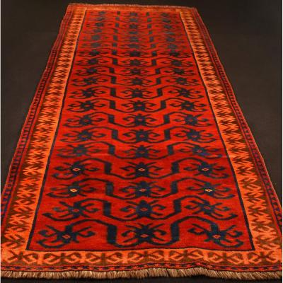 Louri Tribe Carpet (iran - Early 20th Century) 3m X 1m36 Perfect Condition
