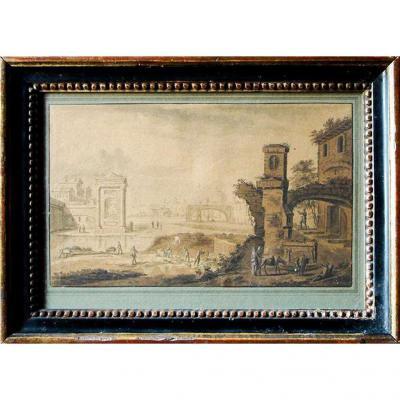Abraham Rademaker - Dessin XVIIIe Signé - Ecole De Haarlem