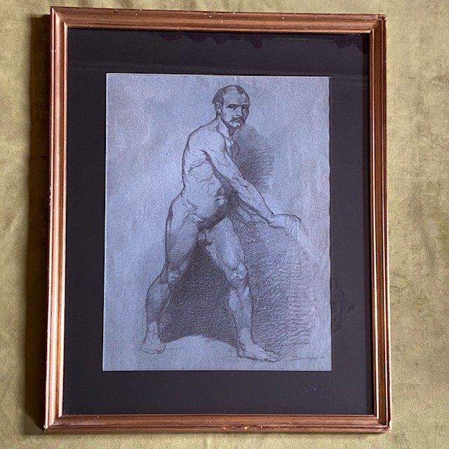Clément August Andrieux (1829 -1880), Académie Masculine, Crayon
