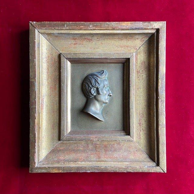 Ecole Française Du XIXe Siècle, Profil Du Professeur De Chirurgie Delpech, Bronze