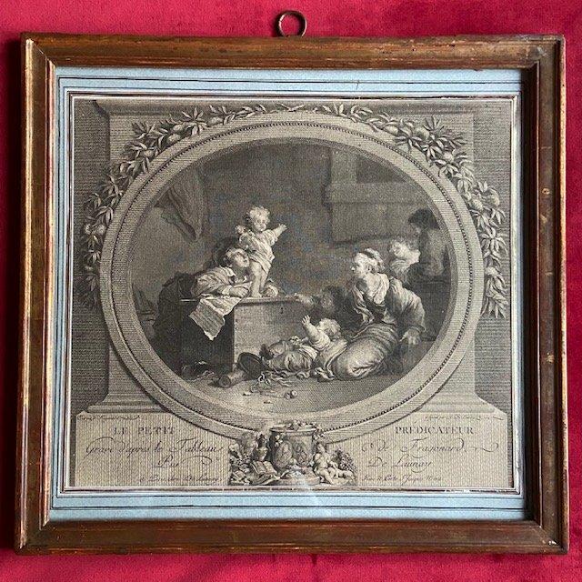 Jean-Honoré Fragonard (1732 - 1806), Le Petit Prédicateur, Gravure Au Noir