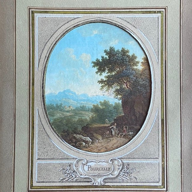 Jean-baptiste Pourcelly (act 1791 - 1802), Animated Landscapes, Pair Of Gouaches On Vellum-photo-3