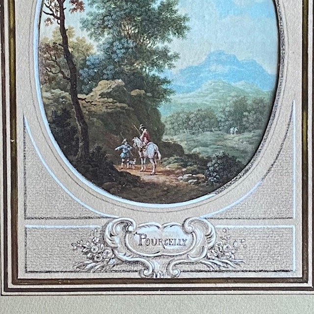Jean-baptiste Pourcelly (act 1791 - 1802), Animated Landscapes, Pair Of Gouaches On Vellum-photo-1