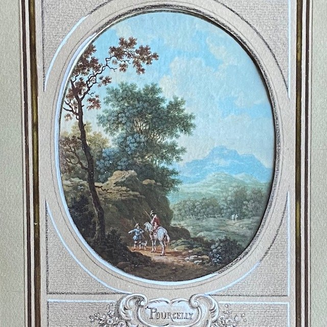 Jean-baptiste Pourcelly (act 1791 - 1802), Animated Landscapes, Pair Of Gouaches On Vellum-photo-2