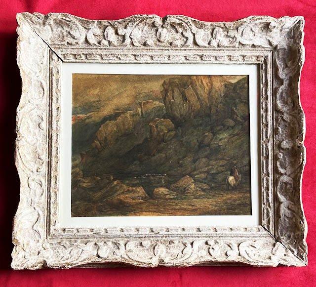 David Cox II (1809 - 1885), Paysage Animé, Aquarelle Signée