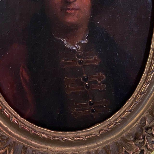 Ent. Jean-Baptise Leprince (1734 -1781), Ecole Française Du XVIIIe, Portrait d'Homme Russe