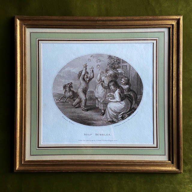 William O. Hamilton (1751 -1801), Paire De Gravures XVIIIe Anglaises Au Noir,  Jeux d'Enfants