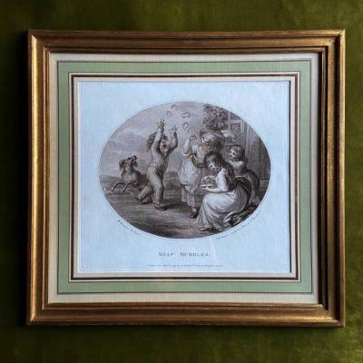 William O. Hamilton (1751 - 1801), Children Games, Pair Of English Engravings 18th