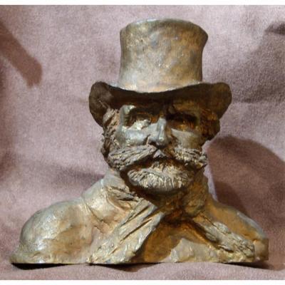 Giuseppe Verdi Compositeur Italien Bronze Dore Sculpture Marie Rouget Risorgimento P Clayette