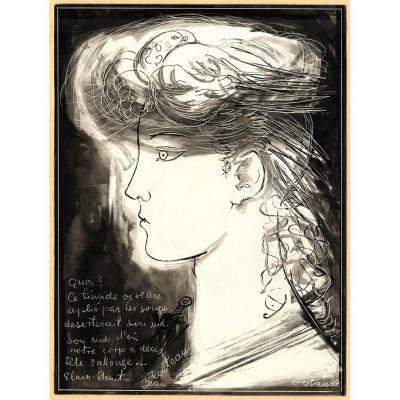 Jean Cocteau Wostan Polonais Portrait Jeune Homme Ephebe Colombe Poeme Stanislas Wojcieszynski