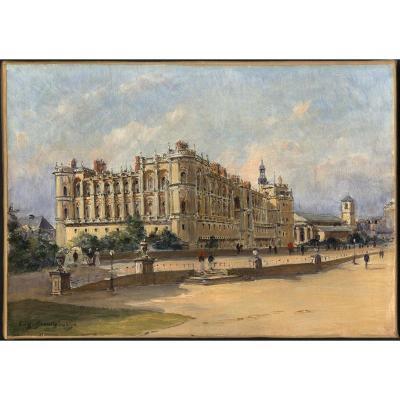 Eugene Bourgoin Reims Impressionniste Chateau Et Parc De Saint Germain En Laye Residence Royale