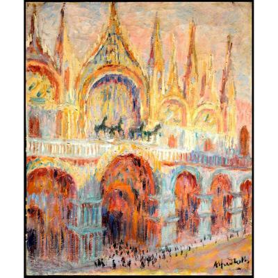 Alfred Roth Peintre Architecte Suisse Zurich Venise Basilique Saint Marc Piet Mondrian