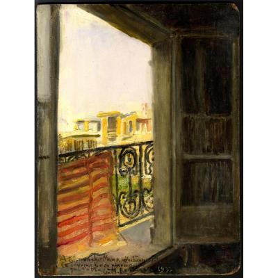 Georges Antoine Rochegrosse Oriental Balcon Casbah Alger El Biar Dedicace Gustave Caillebotte