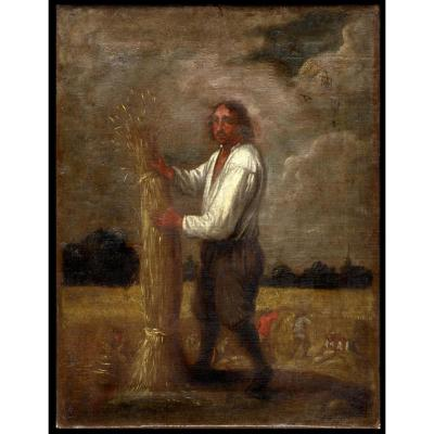 Jan Josef Horemans I II Anvers Guilde Saint Luc Paysan Recolte Moisson Saisons Janssens Teniers