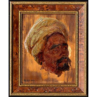 O D V Guillonnet Portrait Spahi et Guennour Mehariste Algerie Cormon Daudet Nice