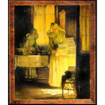 Joseph Bail Soeurs Lingeres pliant les draps Monastere Hospice de Beaune Carolus Duran Gerome