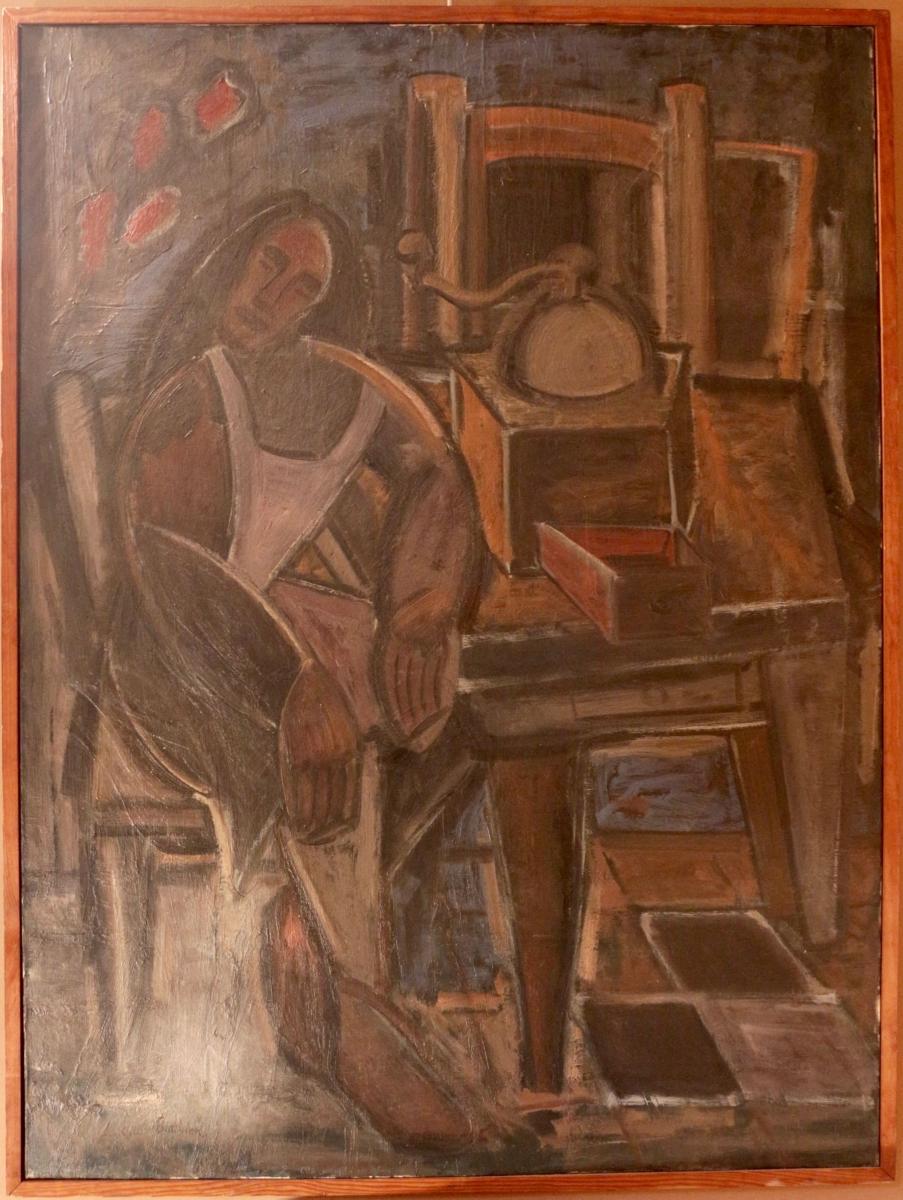 Armand Bouvier: La ménagère endormie. Ecole de Paris