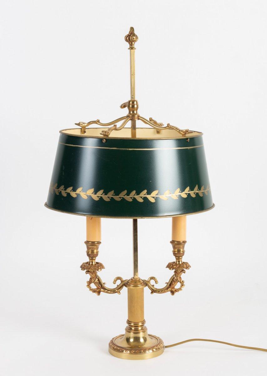 Lampe bouillotte  de,style Empire à deux feux