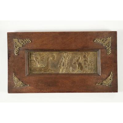 """Bas Relief en Bronze d'époque Empire """"Orphée Aux Enfers"""""""