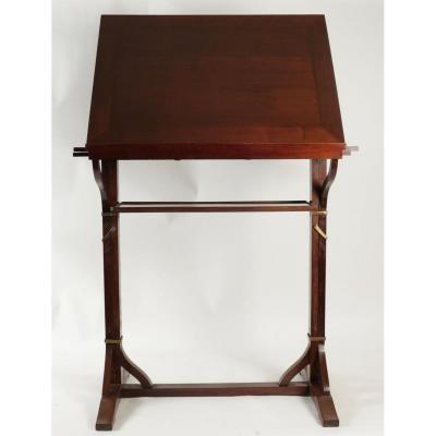 19th Century Solid Mahogany Drawing Table